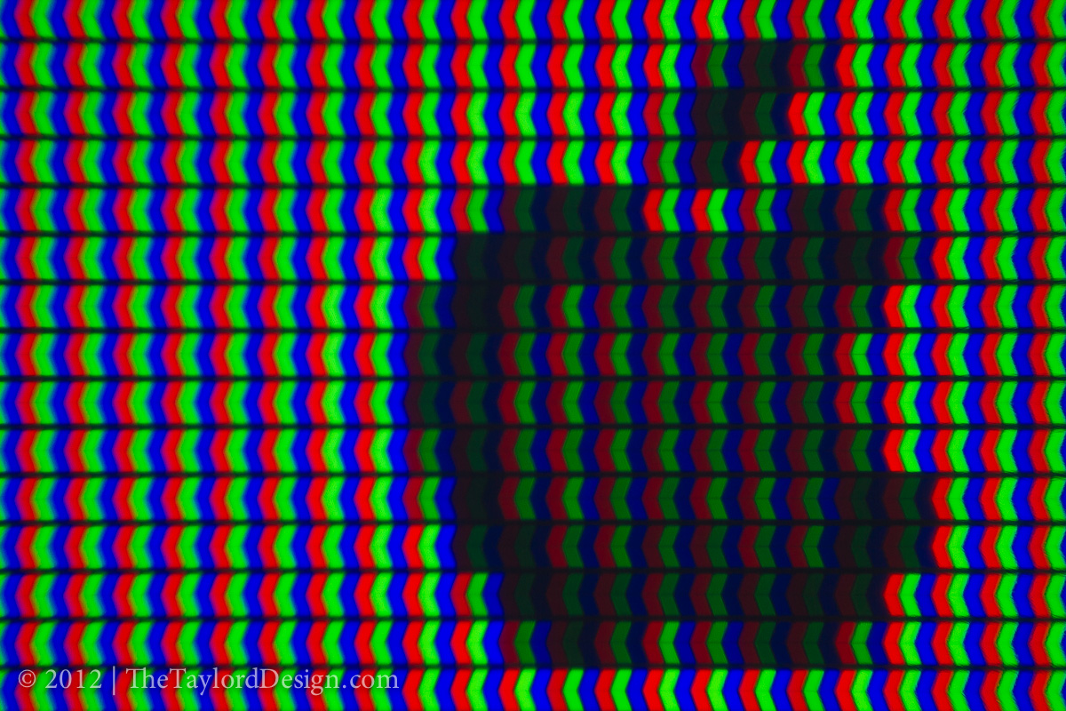 Did you know what the pixels on your LCD TV looked like? Now you do.